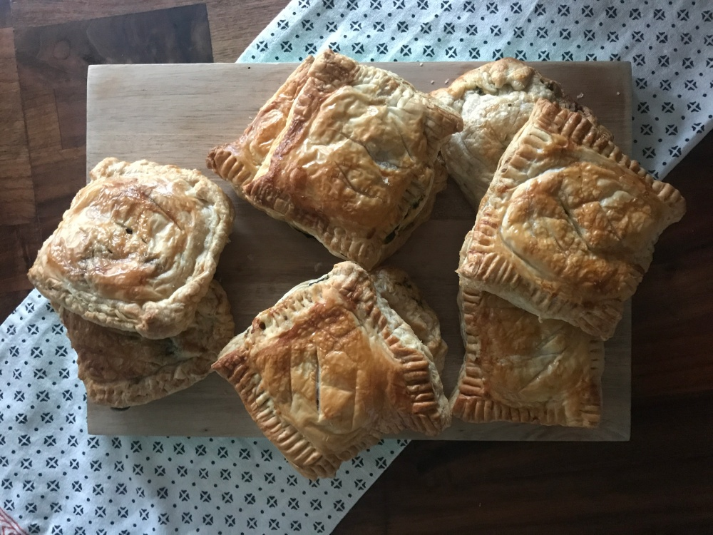Spinach, feta and pine nut pastry
